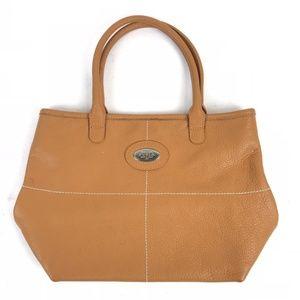Furla Designer Bag Orange Brown Leather Handbag